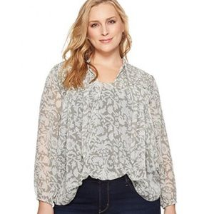 Lucky Brand silky floral top size medium